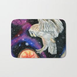 Cosmic Owl 3 Bath Mat