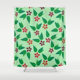Christmas Flowers Shower Curtain