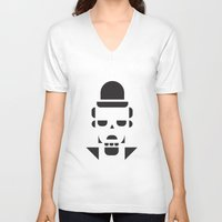 chaplin V-neck T-shirts featuring Chaplin  by MeeNeeMo