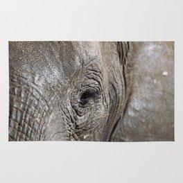 Eye of the elephant, Africa wildlife Rug
