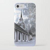 finland iPhone & iPod Cases featuring Church in Kuusamo, Finland by Guna Andersone & Mario Raats - G&M Studi