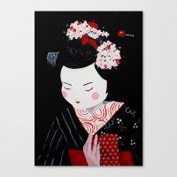 geisha Canvas Prints featuring Geisha by Maripili