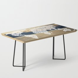 Lake View Map Coffee Table