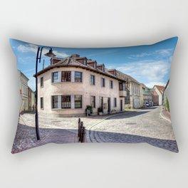 Germany Barth Roads Street Street lights Cities Building Houses Rectangular Pillow