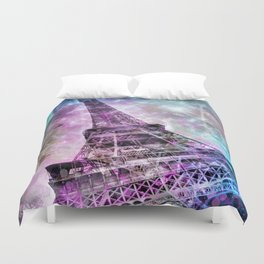 Pop Art Eiffel Tower Duvet Cover