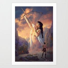 The Goddess & The Barbarian Art Print