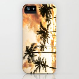 Typical Picturesque Waikiki Beach Sunset iPhone Case