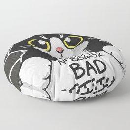 Bad Cattitude Cat Prisoner Floor Pillow