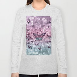 Pastel Unicorn Butterfly Glitter Dream #2 #shiny #decor #art #society6 Long Sleeve T-shirt