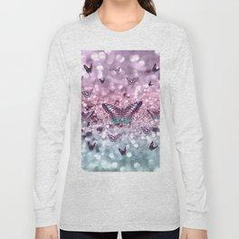 Pastel Unicorn Butterfly Glitter Dream #2 #shiny #decor #art #society6 Long Sleeve T-shirt