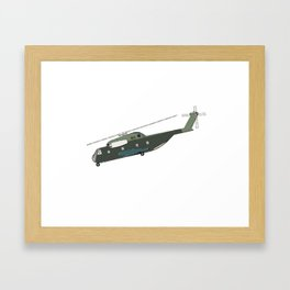 Helicopter patent draw 1969 Framed Art Print
