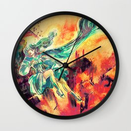 Last Memory of a Dying Planet Wall Clock