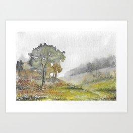 Misty English Landscape Art Print