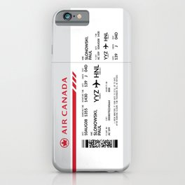 Boarding Pass SLP iPhone Case