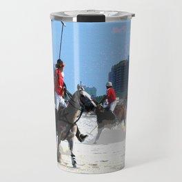 Polo Ponies on Miami Beach Travel Mug
