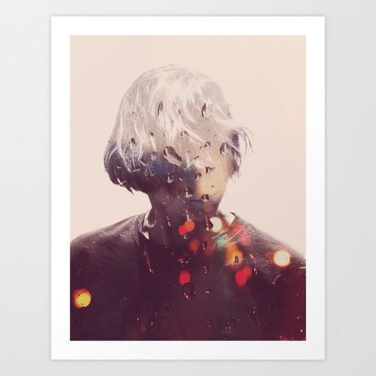 Showers (Double Exposure) Art Print