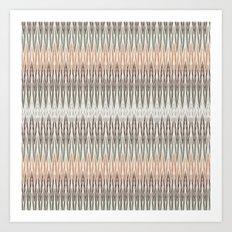 Ikat Abstratct Lines Art Print