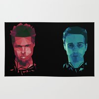 tyler durden Area & Throw Rugs featuring Fight club - tyler by Dr.Söd