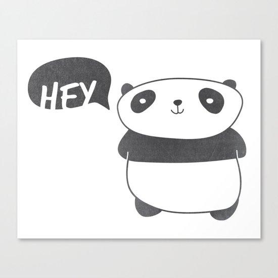 Panda Friend Canvas Print