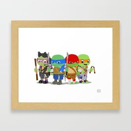Wittle TMNT Framed Art Print