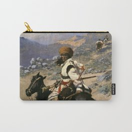 "Frederic Remington Western Art ""An Indian Trapper"" Carry-All Pouch"
