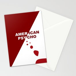American Psycho Minimalist Stationery Cards