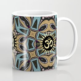 Om Shanti Teal+Gold Coffee Mug