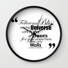 Follow Your Bliss Wall Clock