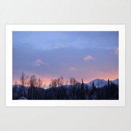 Chugach Mts Serenity Sunrise - II Art Print