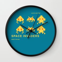 8 BITS BETTER -  SPACE INVADER Wall Clock