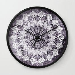BOHOCHIC MANDALA IN PURPLE Wall Clock