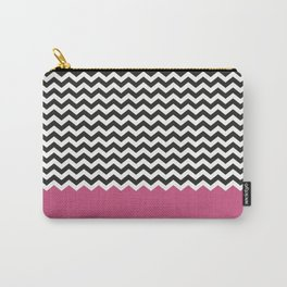 Chevron Bicolor and Magenta Carry-All Pouch