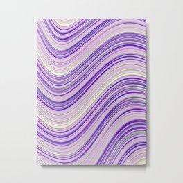 Wavy Purple Stripes Metal Print