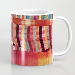 V27 Multi Colored Traditional Moroccan Lovely Textile Texture. Coffee Mug