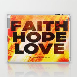 Faith,Hope,Love Laptop & iPad Skin