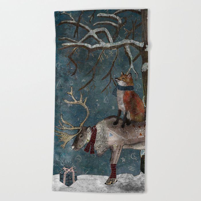 Winter Tale Beach Towel