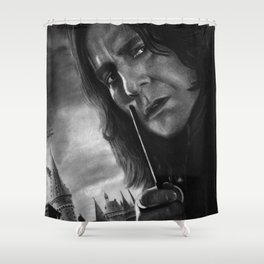Alan Rickman Shower Curtain