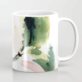 Abstract Watercolor Peonies Print Coffee Mug