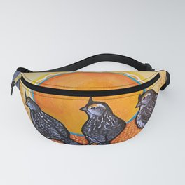 Mama and Baby Quail Fanny Pack