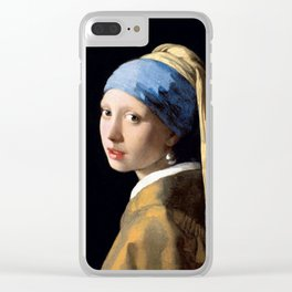 Girl with a Pearl Earring - Jonah Vermeer Clear iPhone Case