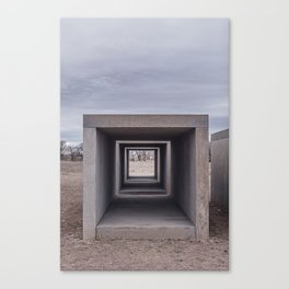 Donald Judd's Concrete Blocks at The Foundation Canvas Print