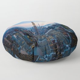 New York City Dusk Floor Pillow