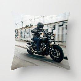 Street Rider - Fine Art Print Throw Pillow