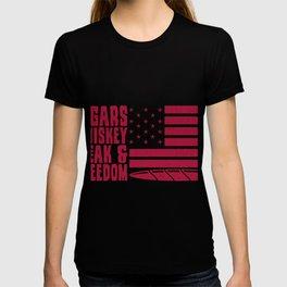 USA & Cigars & Whiskey Aficionado Cigar Gift T-shirt