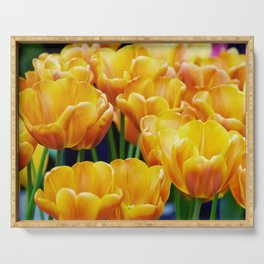 Yellow Orange Tulips Serving Tray