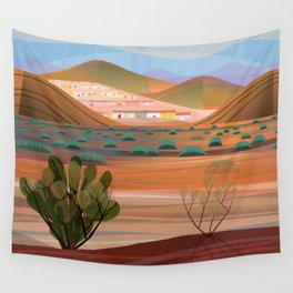 Copper Town (Square) Wall Tapestry