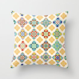 A sunny day in Marrakesh Throw Pillow