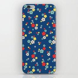 blossom ditsy in monaco blue iPhone Skin