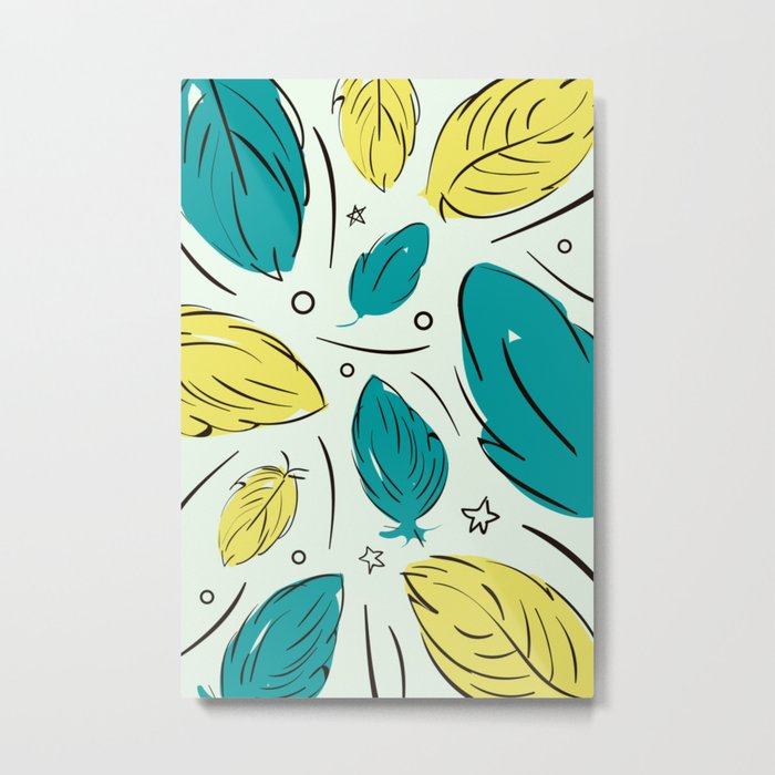 Accent Leaves Metal Print