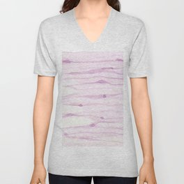 Pastel pink watercolor hand painted brushstrokes pattern Unisex V-Neck